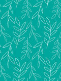 Seamless pattern with delicate white plants Royalty Free Stock Images