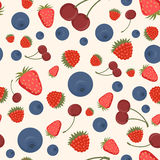 Seamless pattern of delicious ripe berries Stock Photo