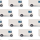 Seamless pattern of delivery trucks Royalty Free Stock Photo