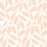Seamless pattern design with bohemian hand drawn feathers Stock Photos