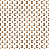 Seamless pattern. Design element for wallpaper, wrapping paper, textile prints and etc. Easter rabbit cover design. White color Royalty Free Stock Images