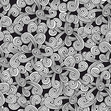 Seamless pattern with design elements for coloring. Stock Photography