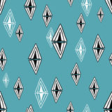 Seamless pattern with design elements. Stock Photo