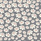 Seamless pattern design with hand drawn flowers and floral eleme Royalty Free Stock Photography