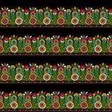 Hungarian embroidery pattern Royalty Free Stock Photos