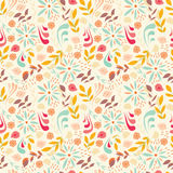 Seamless pattern design with little flowers, floral elements Royalty Free Stock Photo