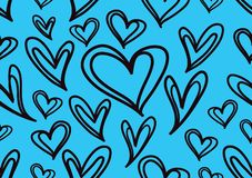 Seamless patterns with blue hearts, Love background, heart shape vector, valentines day, texture, cloth, wedding wallpaper. Textiles, scrapbook, gift wrapping vector illustration