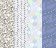 Seamless pattern 4 designs in one set. Illustration of seamless pattern 4 designs in one set Royalty Free Illustration
