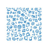 Seamless pattern with IT devices for your design Stock Photos