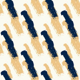 Seamless pattern with diagonal black and gold Stock Images