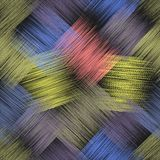 Seamless pattern with diagonal colorful grunge striped intersect. Ed elements for web design Royalty Free Stock Photography