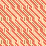 Seamless pattern of diagonal and horizontal stripes. Abstract seamless geometric pattern of diagonal and horizontal stripes, retro color palette Stock Image