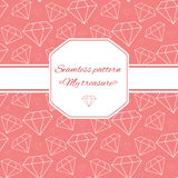 Seamless pattern with  diamond Stock Photos