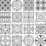 Seamless pattern from diamond cutting Royalty Free Stock Images