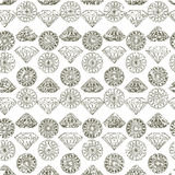 Seamless pattern from diamond Stock Image