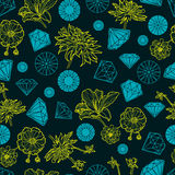 Seamless pattern from diamond Royalty Free Stock Images