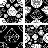 Seamless pattern from diamond Royalty Free Stock Photos