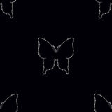 Seamless pattern with Diamonds butterfly Stock Photography