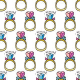 Seamless pattern with diamonds Stock Images