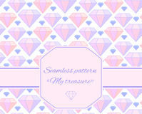 Seamless pattern with  diamonds Royalty Free Stock Photography