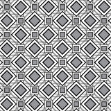 Seamless pattern with diamonds and squares. Vector. Abstract geometric pattern with white and grey diamonds and squares. Vector Royalty Free Stock Photo