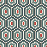 Seamless pattern with diamonds. Turtle shell motif. Honeycomb wallpaper. Repeated rhombuses and lozenges figures. Abstract background. Classic geometric Stock Photo