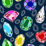 Seamless pattern with diamonds Royalty Free Stock Images