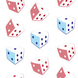 Seamless pattern dice Stock Images