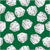 Seamless pattern of dice Royalty Free Stock Photography