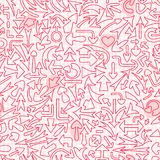 Seamless pattern with different arrows. Stock Photography