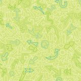 Seamless pattern with different arrows. Royalty Free Stock Images