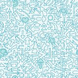 Seamless pattern with different arrows. Royalty Free Stock Photography