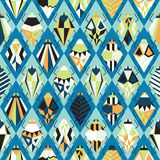 Seamless pattern with different bugs. Illustration Stock Photos