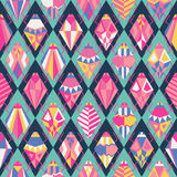 Seamless pattern with different bugs. Illustration Royalty Free Stock Image