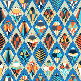 Seamless pattern with different bugs. Illustration Stock Image
