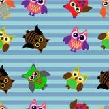 Seamless owl Stock Image