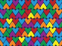 Seamless pattern different color hearts Royalty Free Stock Images