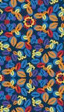Seamless pattern with different color lips Stock Images