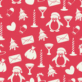 Seamless pattern with different elements. Royalty Free Stock Photos