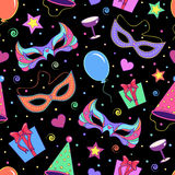 Seamless pattern with different elements of party Stock Image