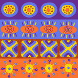 Seamless pattern with different ethnic elements Royalty Free Stock Photography