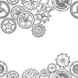 Seamless pattern with different gears Royalty Free Stock Photo