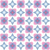 Seamless pattern with different gems on white background. Colorful illustration in pastel colors stock illustration