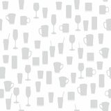 Seamless pattern with different glasses Royalty Free Stock Photos