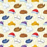 Seamless pattern of different heads Stock Photo