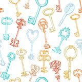 Seamless pattern with different keys Royalty Free Stock Photography