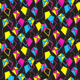 Seamless pattern with different kites Stock Images