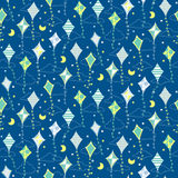 Seamless pattern with different kites Stock Photos