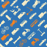 Seamless pattern with transport icons Royalty Free Stock Images