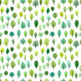Seamless pattern with different trees Stock Image